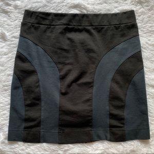 All Saints Exposed Zipper Mini Skirt